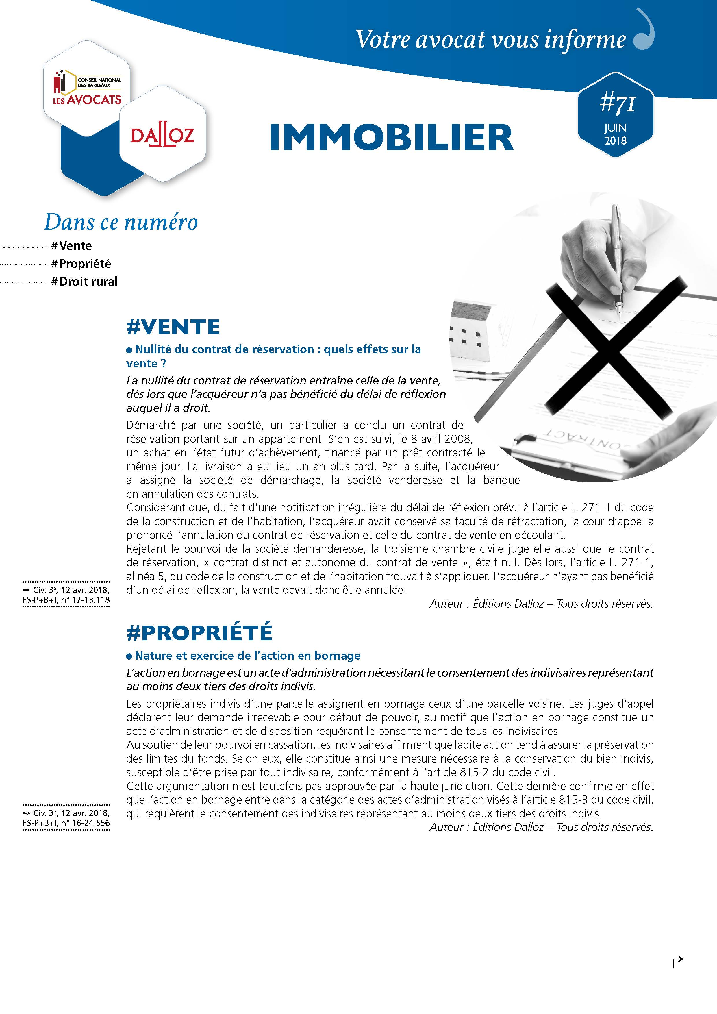 Newsletter-Immobilier